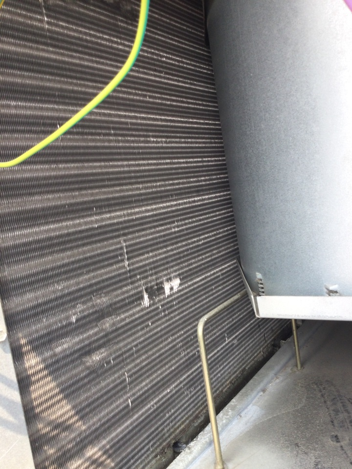 Merced, CA - Out to perform AC maintenance and safety inspection tested compressor amps tested fan amps tested dual capacitor washed outdoor condensing coil inspected disconnect inspected evaporator coil and condensation drain.