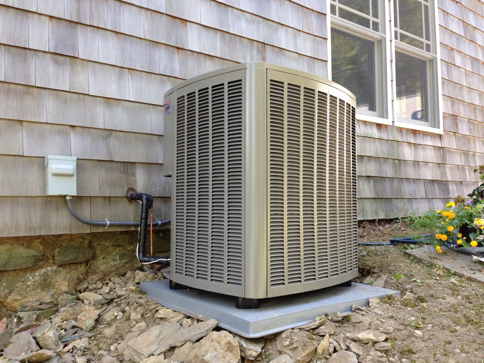 Greenwood Lake, NY - Installation of a condensing unit.