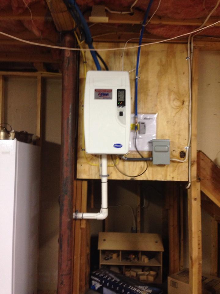 Otisville, NY - Installation of whole house steam humidifier