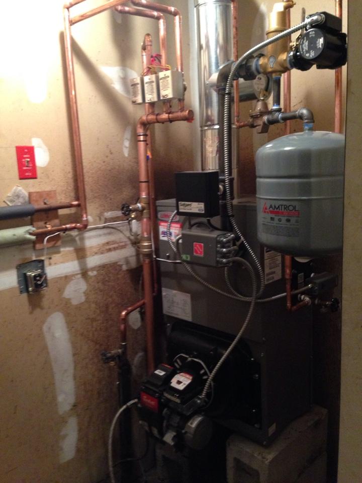 Rock Tavern, NY - Installation of Lennox oil fired boiler
