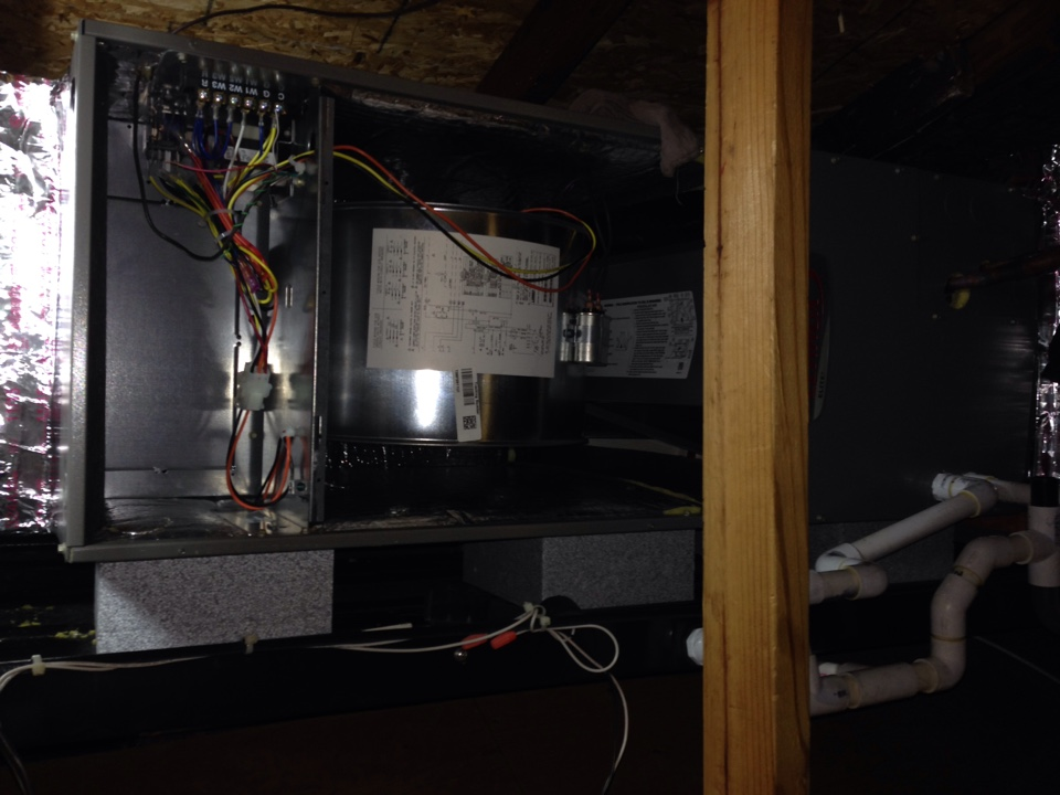 Maybrook, NY - New air conditioning air handler installation