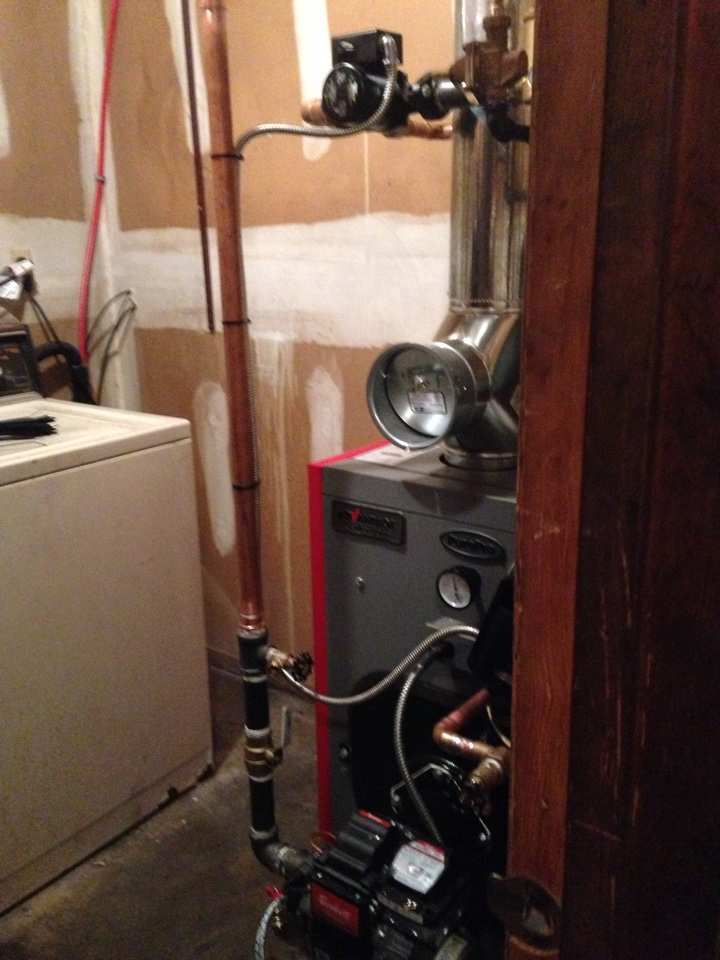 Florida, NY - New oil boiler installation.