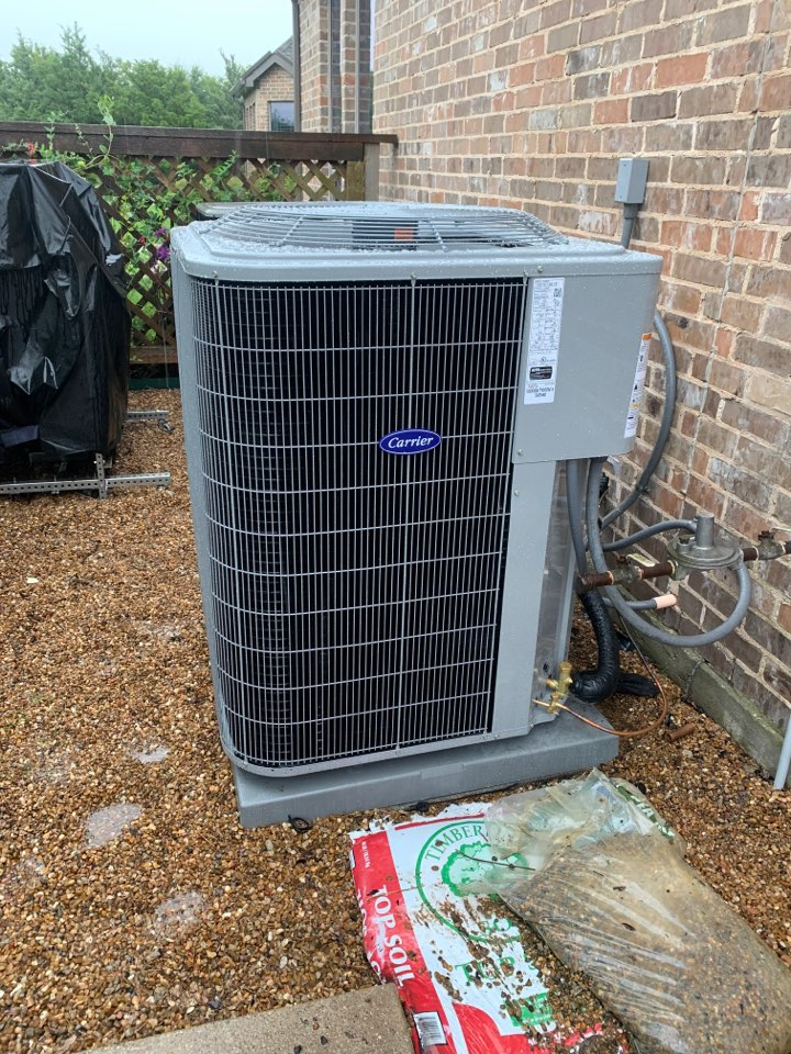 Allen, TX - New 16 seer system 5 ton carrier. 10 years warranty on parts