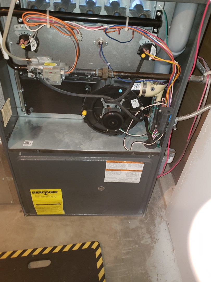 Luseland, SK - Completed a full system Rejuvenation on this Amana furnace and plumbing Evaluation.
