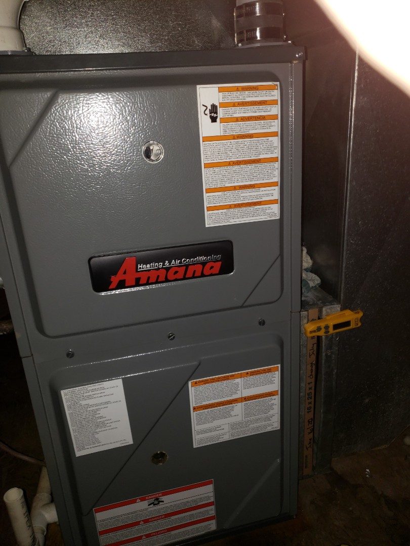 Luseland, SK - Completed a full system Rejuvenation on an Amana furnace and also complete a Plumbing Evaluation