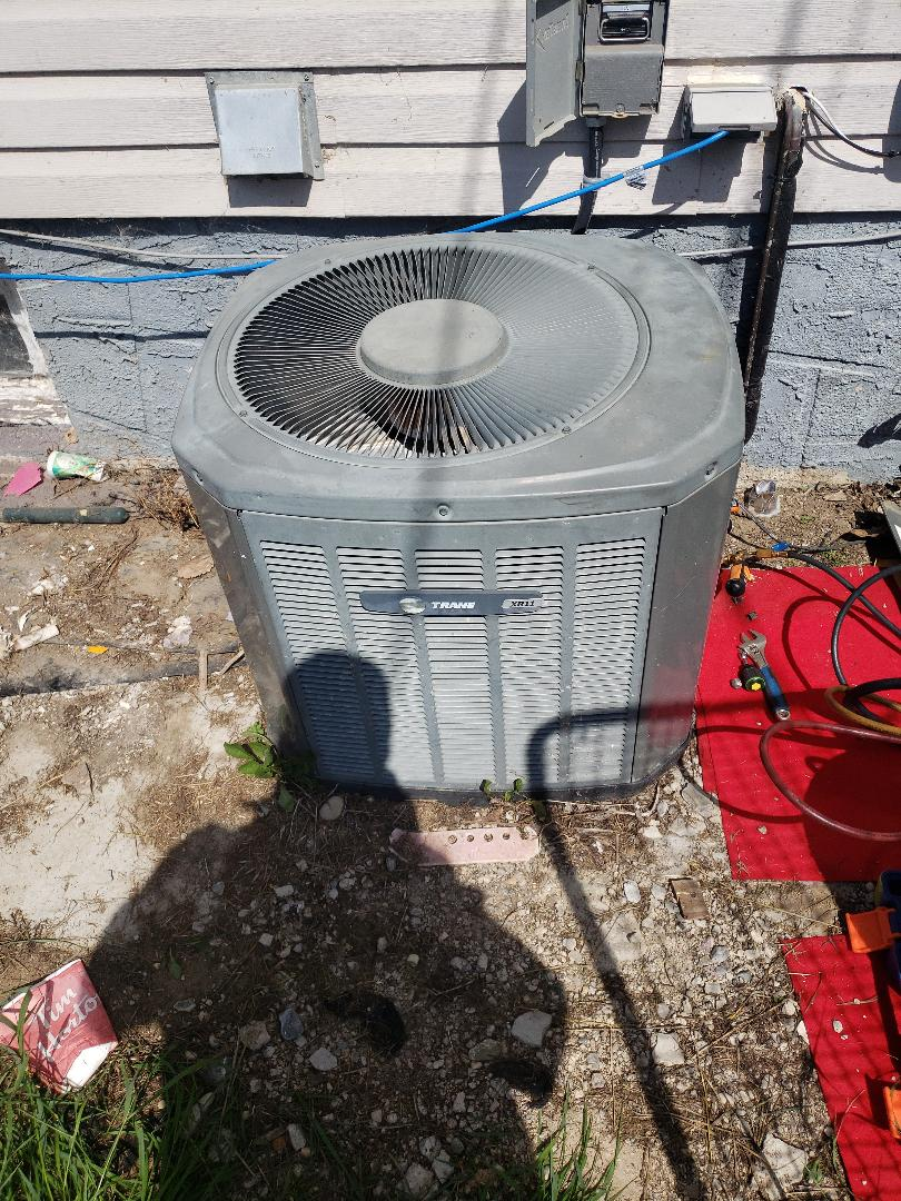 Maidstone, SK - Cleaning a trane furnace and ac