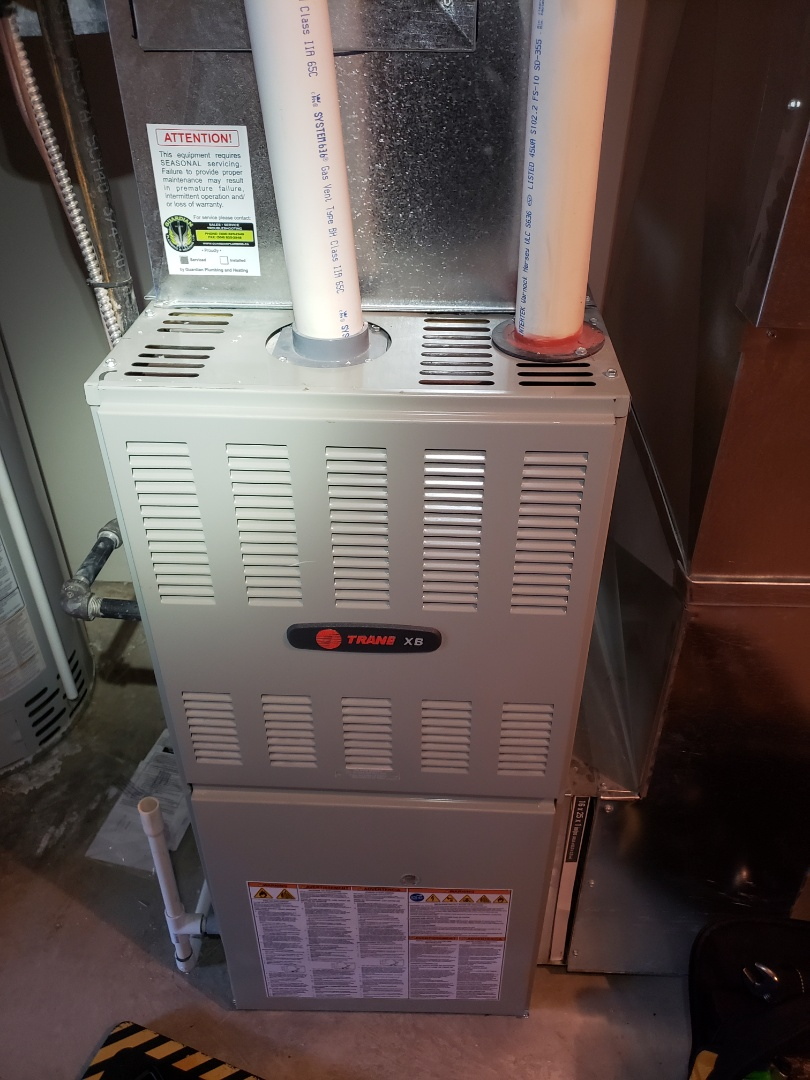 Lloydminster, SK - Just got the heat back on for this trane furnace.