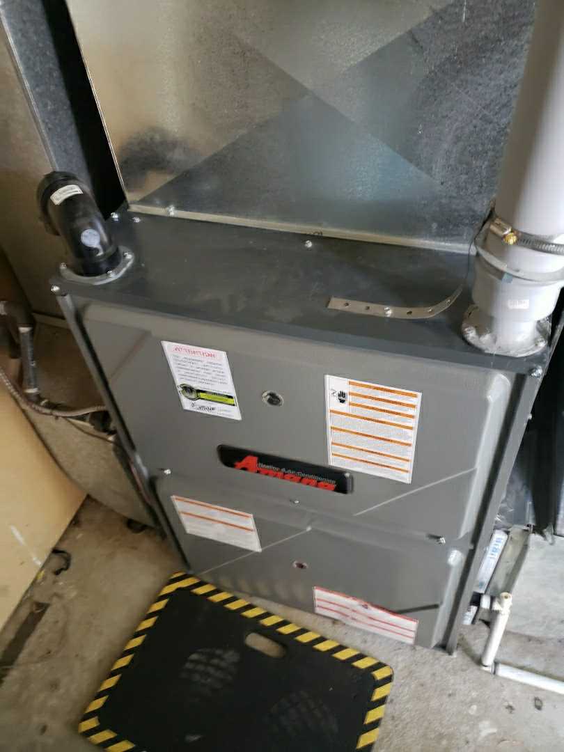 Lloydminster, SK - Completed a system rejuvenation on this nice Amana furnace.