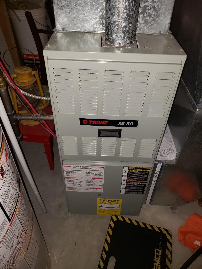 Lloydminster, AB - Completing a sytem rejuvenation on this trane furnace.