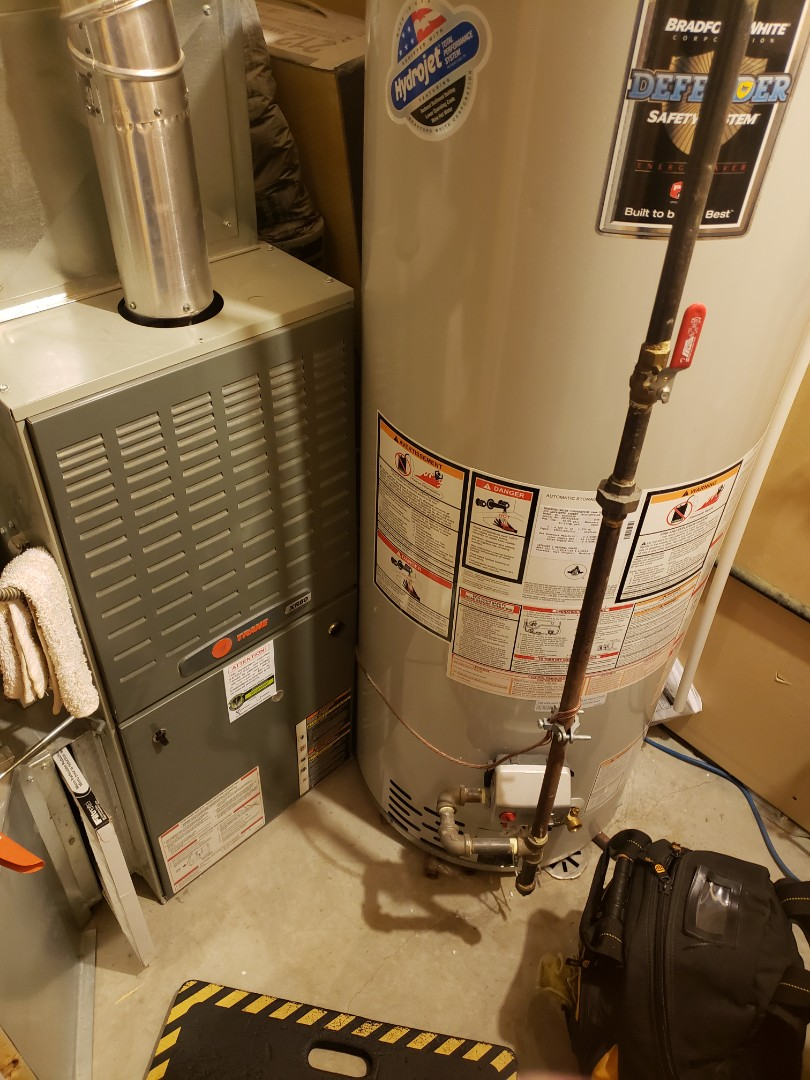 Lloydminster, SK - Just completed a fulm system rejuvenation and plumbing evaluation on this Trane furnace.