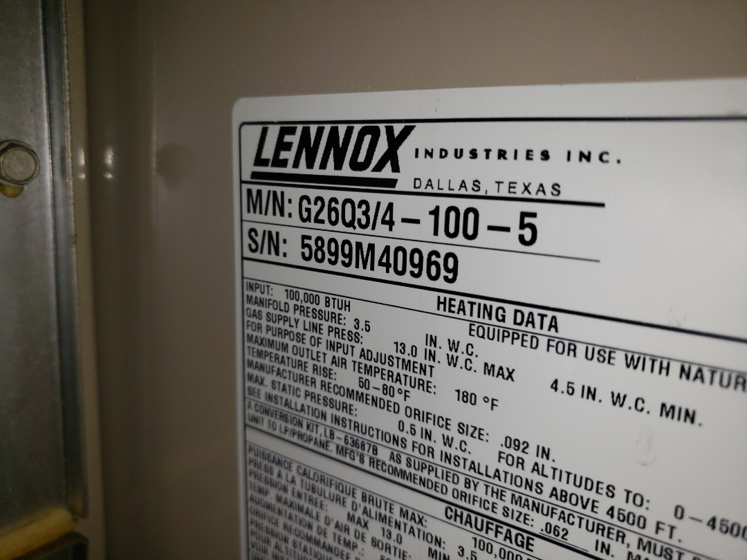 Lloydminster, AB - Just diagnosed this lennox furnace.