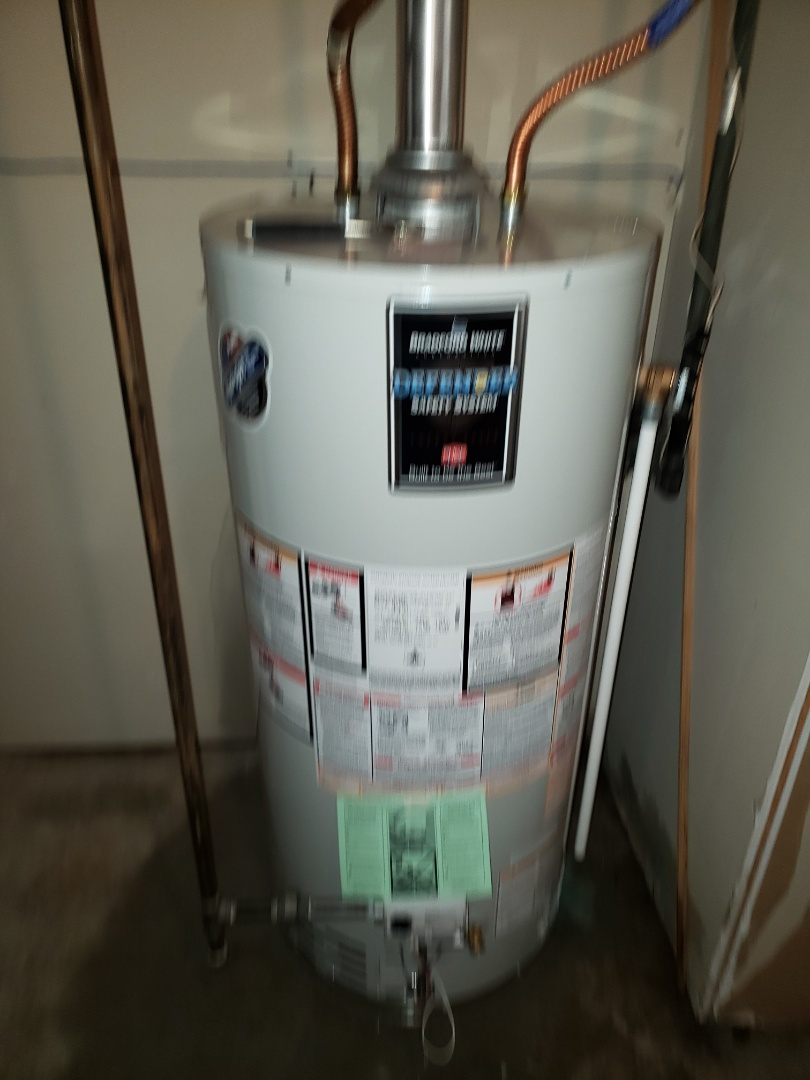 Lloydminster, AB - Just replaced a 40gal natural draft hot water tank. Also complwtwd a furnace tune up.