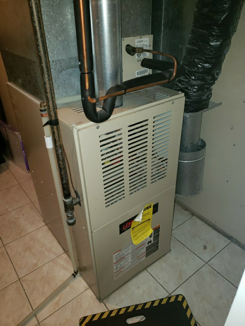 Lloydminster, AB - Just replaced an inducer motor on this Lennox furnace.