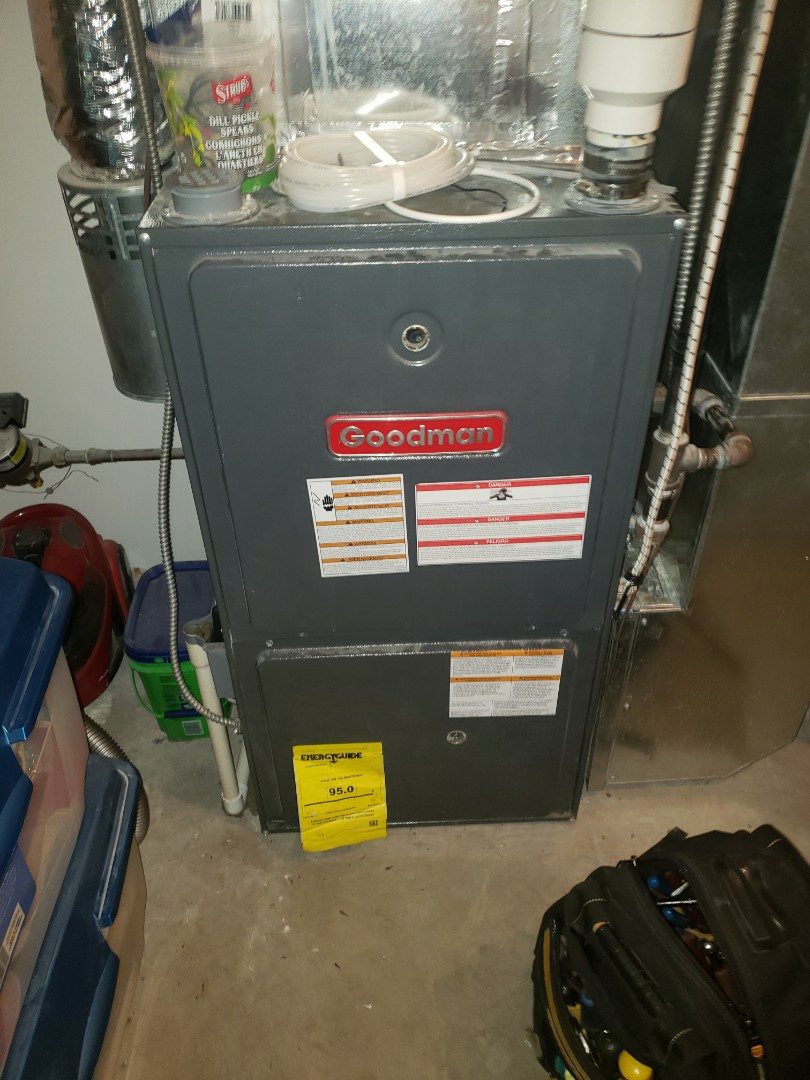 Lloydminster, SK - Completed a system rejuvenation on this Goodman furnace. Also did a umbing evaluation.
