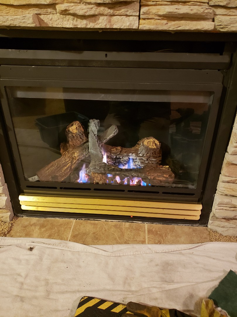 Lloydminster, AB - Just serviced this beautiful Napoleon fireplace.