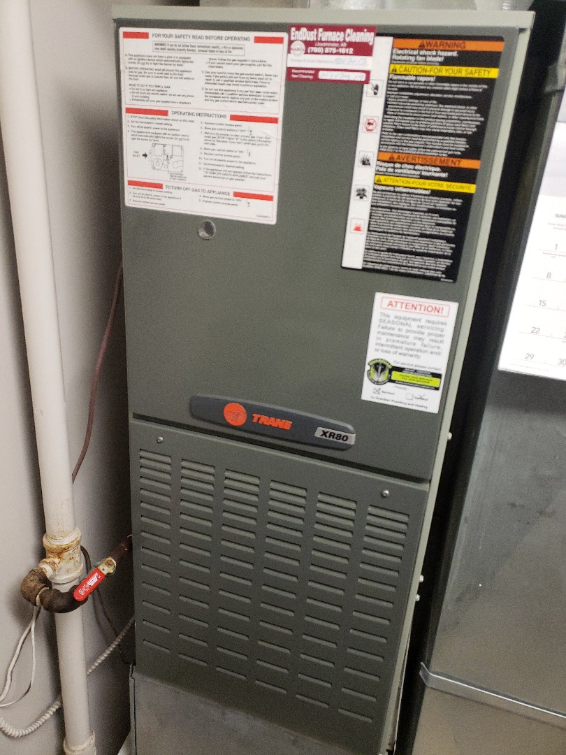 Maidstone, SK - Just got the heat back on in this Trane furnace. Also completed a system rejuvenation as well.