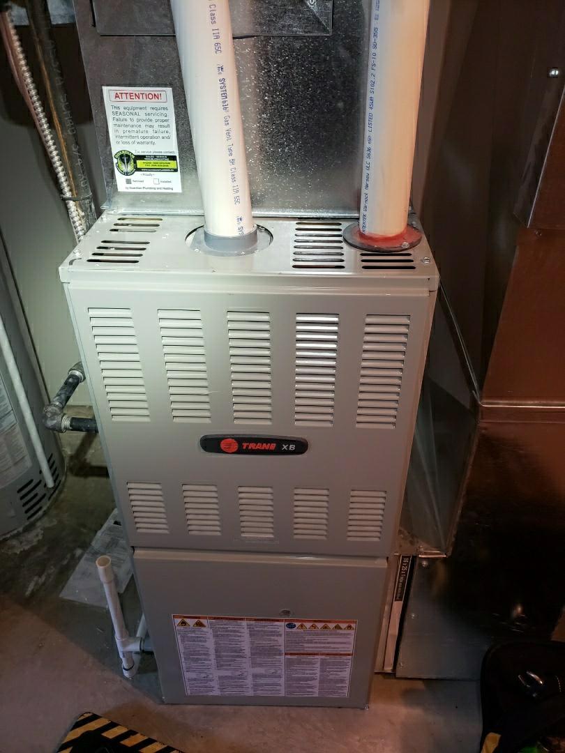 Lloydminster, AB - Just tuned up this Trane furnace.