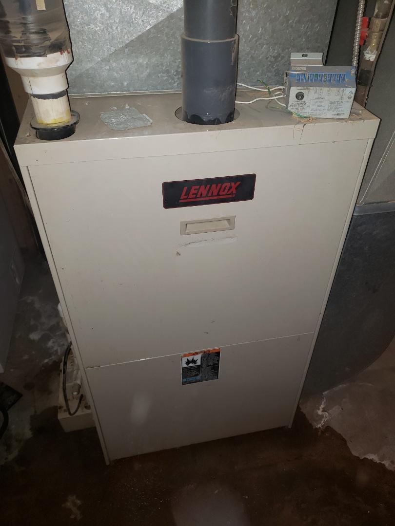 Lloydminster, AB - Just got a tube heater going and fix a leak in a lennox furnace.