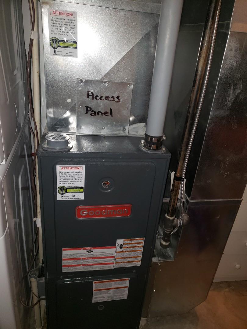 Lloydminster, SK - Just completed a rejuvenation on this Goodman furnace