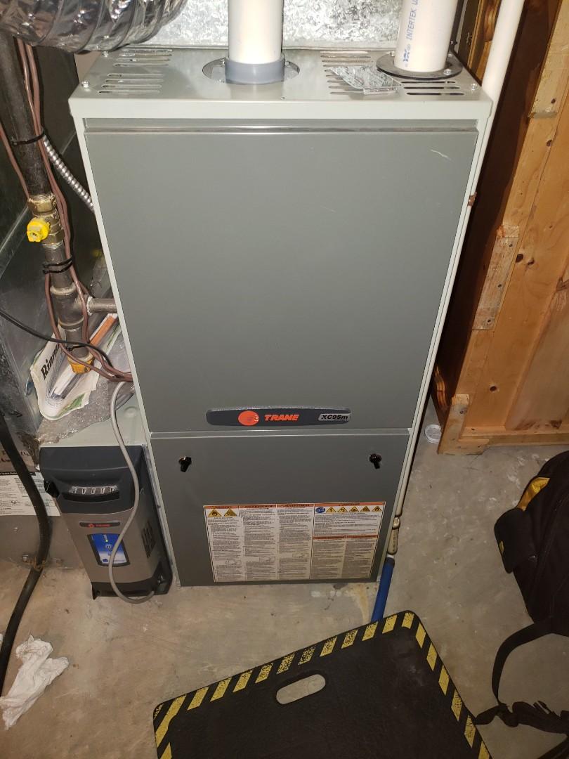 Lloydminster, SK - Just completed a system rejuvenation on this Trane furnace.