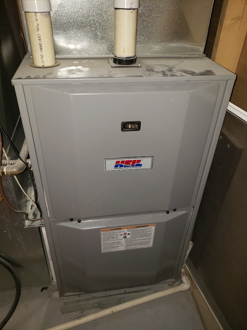 Lloydminster, SK - Just got the heat back on for this Heil furnace.