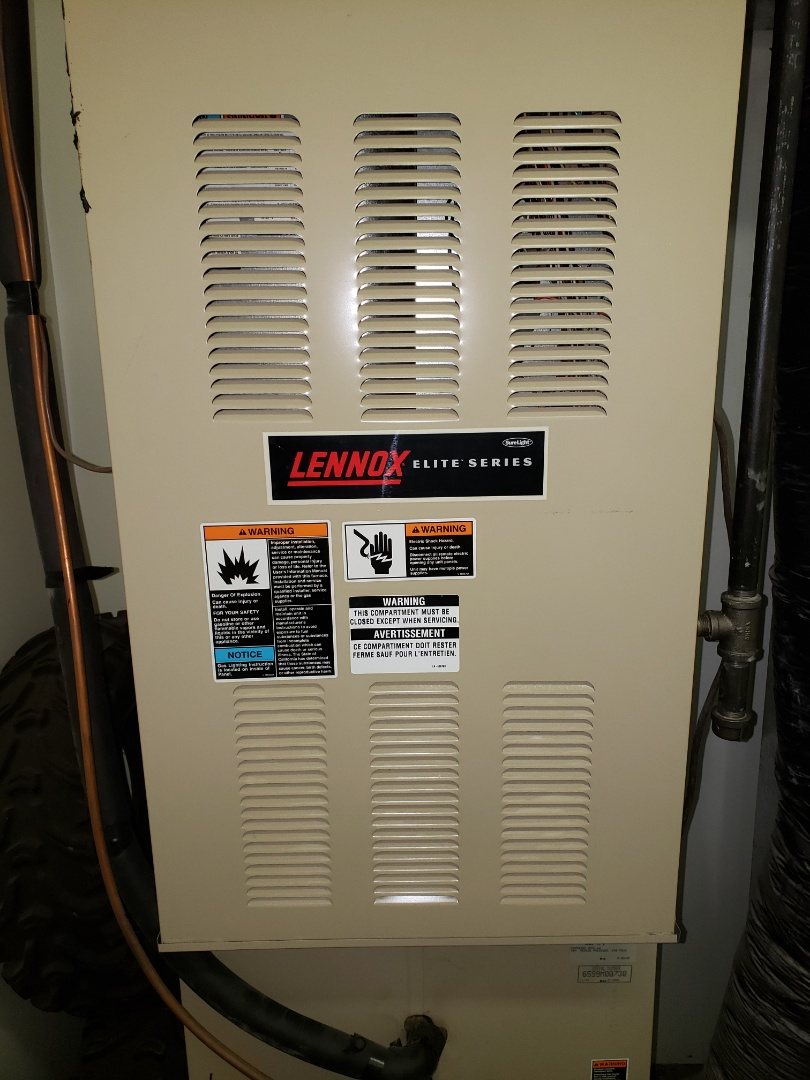 Lloydminster, AB - Just  got the heat back on, and serviced/ cleaned up this Lennox furnace.