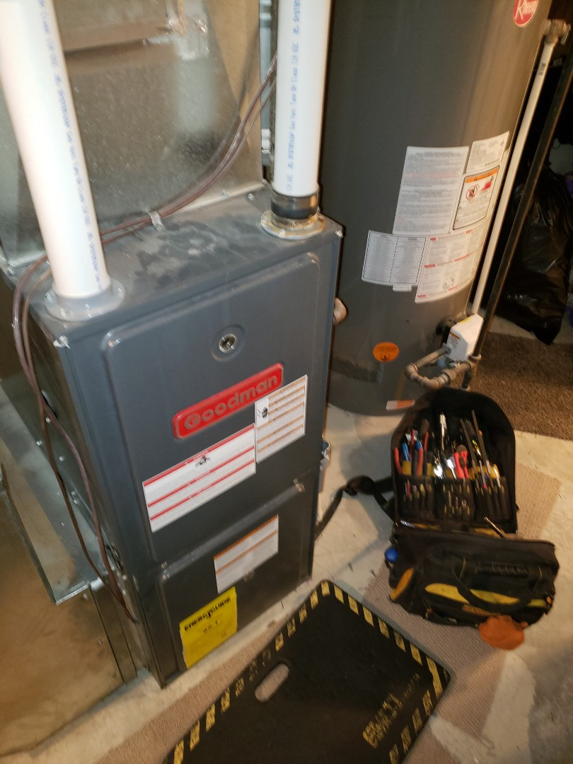 Lloydminster, SK - Just tuned up this Goodman furnace.  Had a leak on the collector box gasket.  Annual maintenance is a great way to catch small problems before they turn into big ones!!