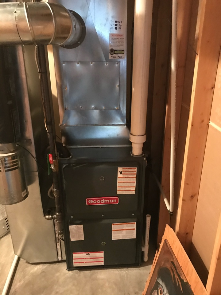 Lloydminster, SK - Brand new installation of a Goodman furnace with a ecobee five thermostat that ties in nicely with the humidifier!