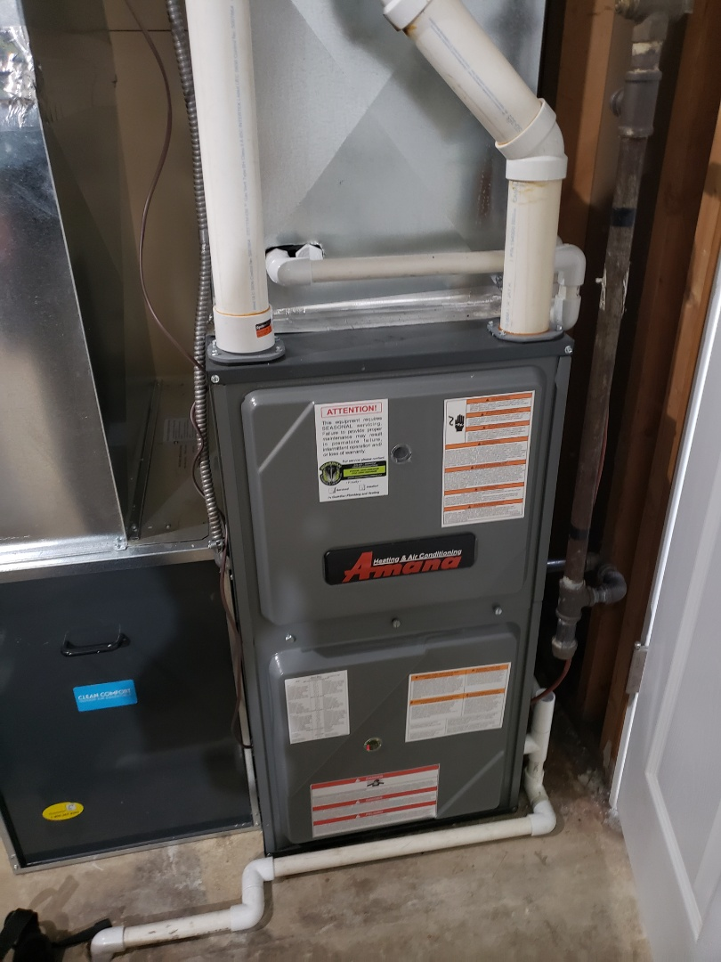 Lloydminster, SK - Just completed a system rejuvenation on this Amana furnace.