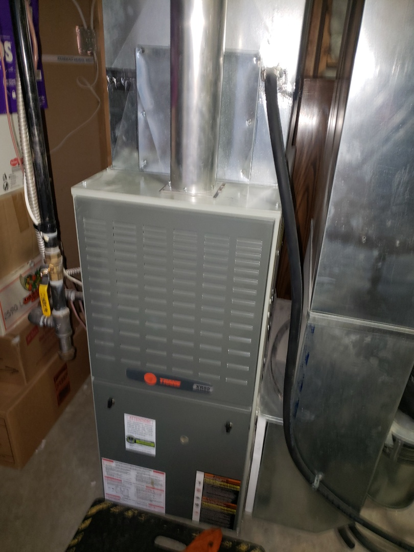 Lloydminster, SK - Just completed a system rejuvenation on this Trane furnace and a while home plumbing evaluation.