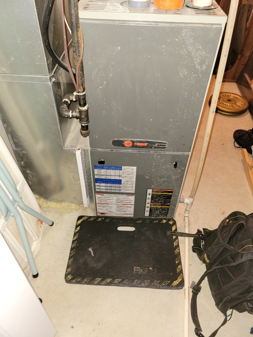 Lloydminster, SK - Just did a rejuvenation on this Trane furnace.  Cleaned it top to bottom!