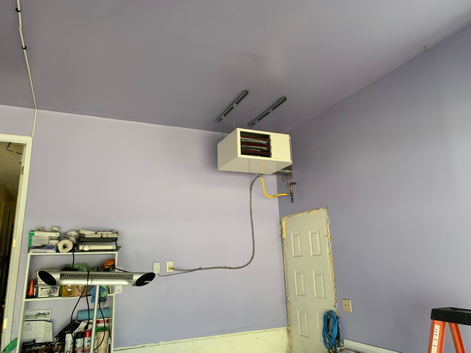 Lloydminster, AB - Installed a garage heater and ran the gas line to the meter at the back of the house