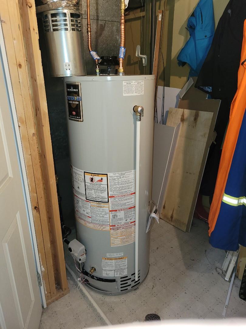 Lloydminster, SK - Just replaced a water heater.