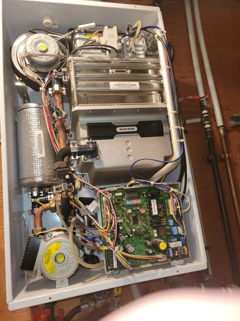 Kitscoty, AB - Just serviced a tankless water heater.