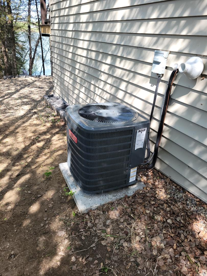 Paradise Hill, SK - Just tuned up this ac unit.  Had to fix a leak and topmost the refrigerant.