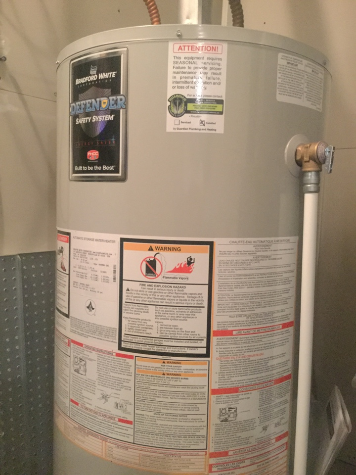 Lloydminster, AB - Water heater install and Furnace Service for Guardian Protection Plan Membership