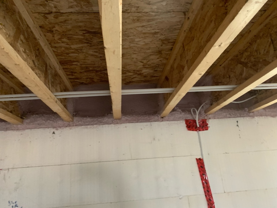 Paradise Valley, AB - Sprayfoam basement rim joist . To keep the cold out and seal any cracks that air can get in.