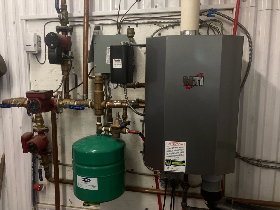 Maidstone, SK - System rejuvenation on NTI boiler, geothermal service, plumbing inspection, toilet and sink repair.
