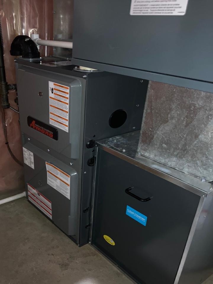 Lloydminster, SK - System rejuvenation on Amana furnace furnace for Guardian Protection Plan Membership