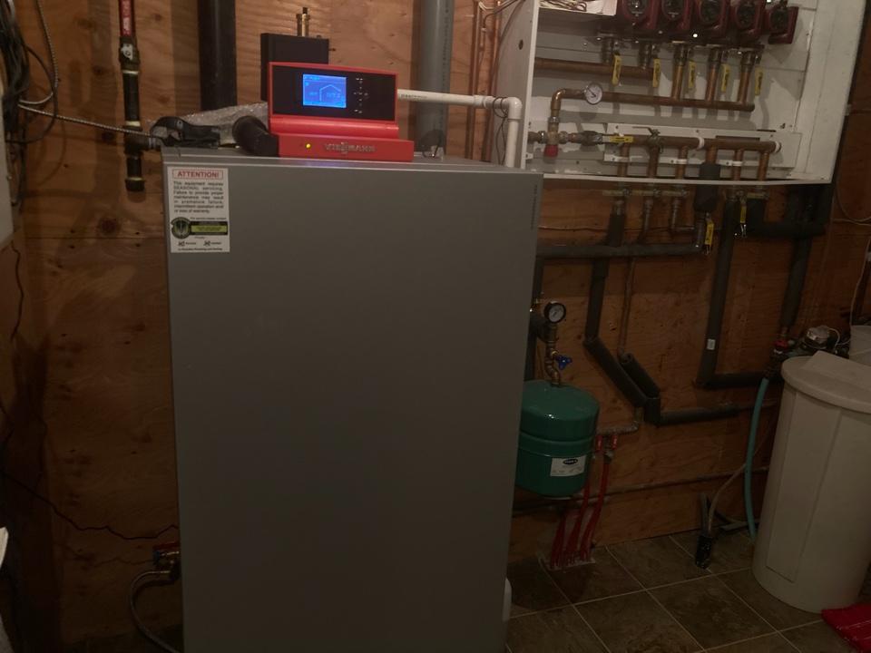 Lloydminster, AB - System rejuvenation service on Vitocrossal boiler and air exchanger service.