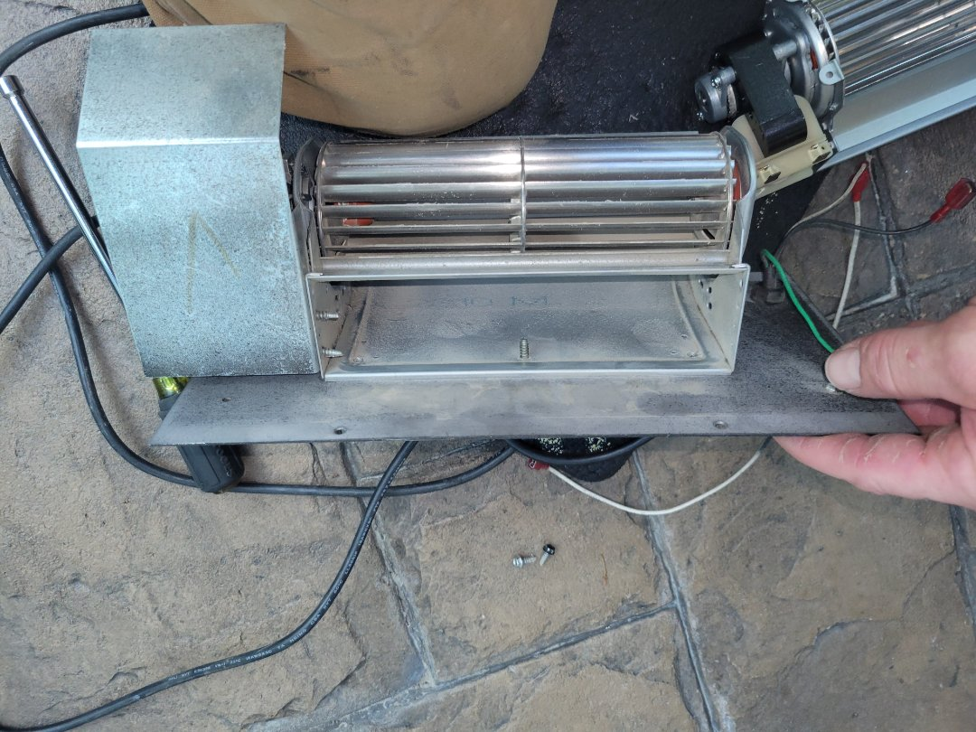 Lloydminster, AB - Just replaced this fireplace fan for a great customer of ours.