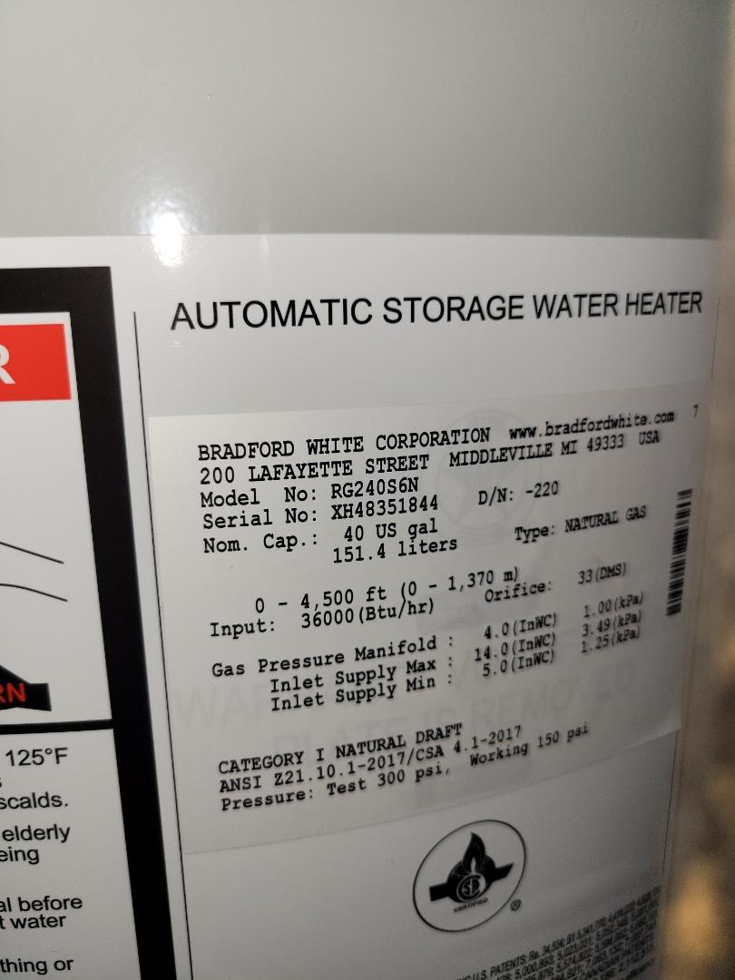 Lloydminster, SK - Just replaced a hot water heater.