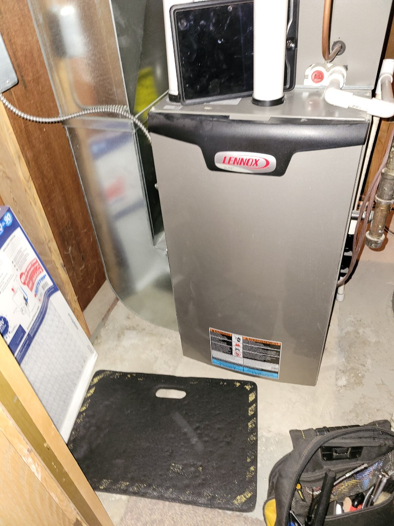 Lloydminster, AB - Just cleaned up this Lenmox furnace,  completed a plumbing evaluation and an ac tune up. Keeping everything running smooth.