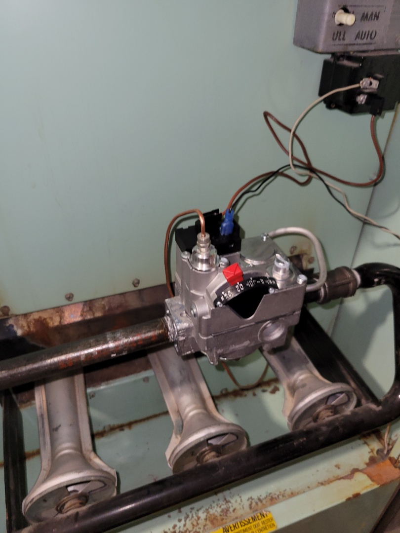 Lloydminster, SK - Replaced the gas valve to get the heat back on