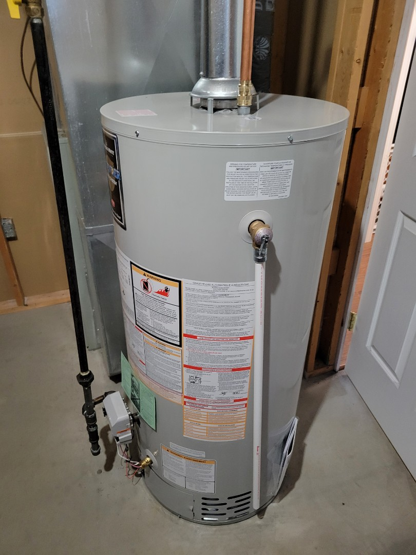 Replaced a water heater