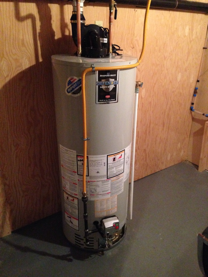 Blue Mountains, ON - Bradford white hot water tank installation