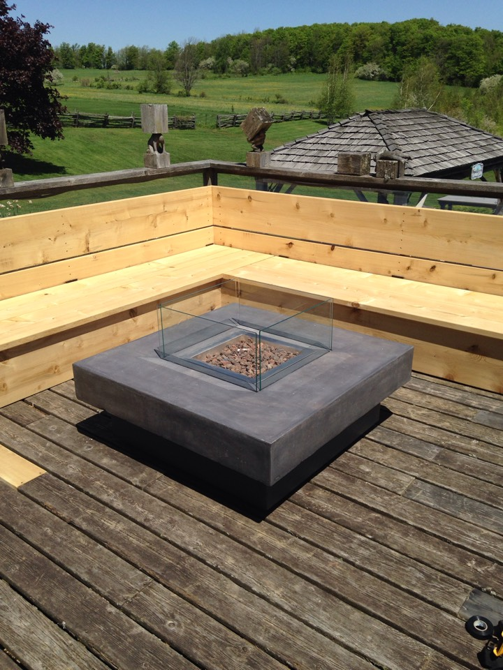 Honeywood, ON - Gas fire pit installation