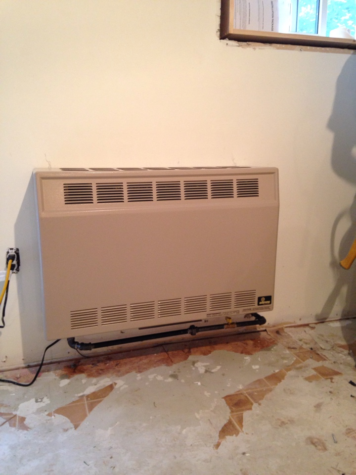 Caledon, ON - Empire wall heater installation