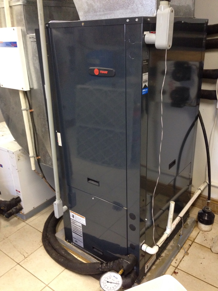 Trane geothermal heat pump maintanance