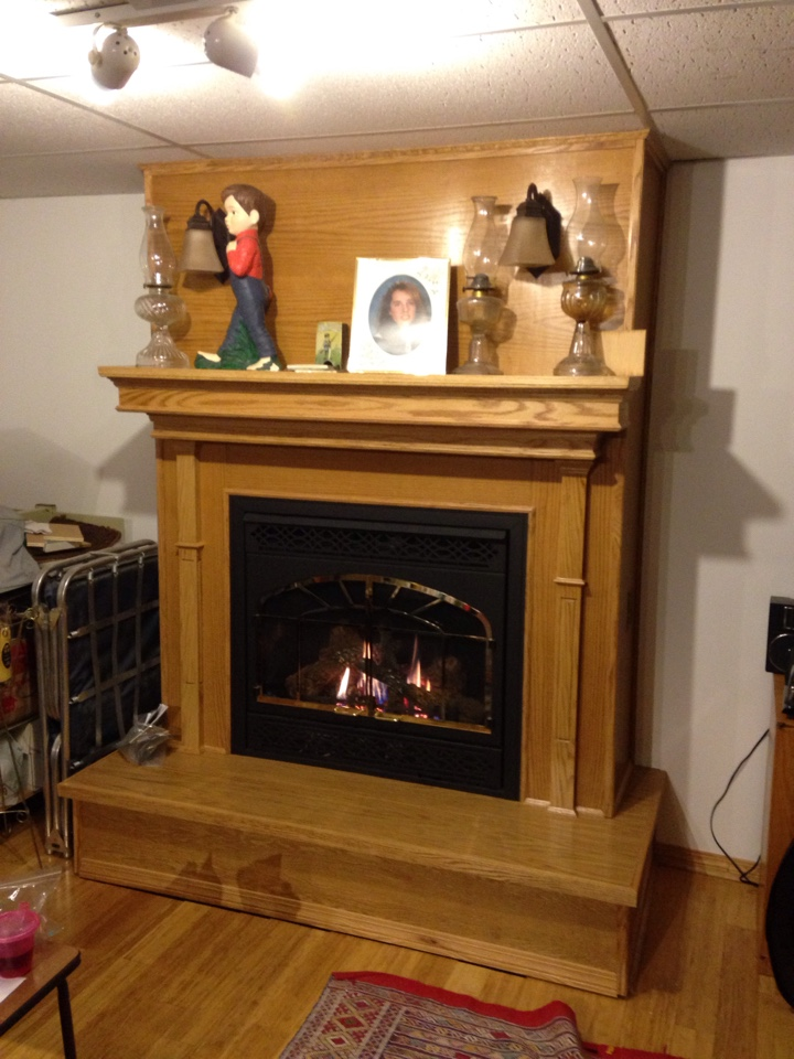 Napoleon fireplace conversion